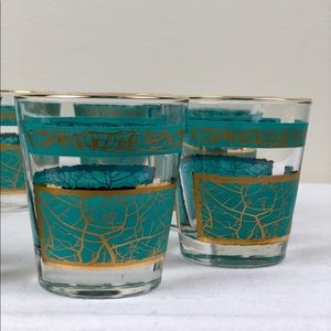 Set of 8 Midcentury Glasses